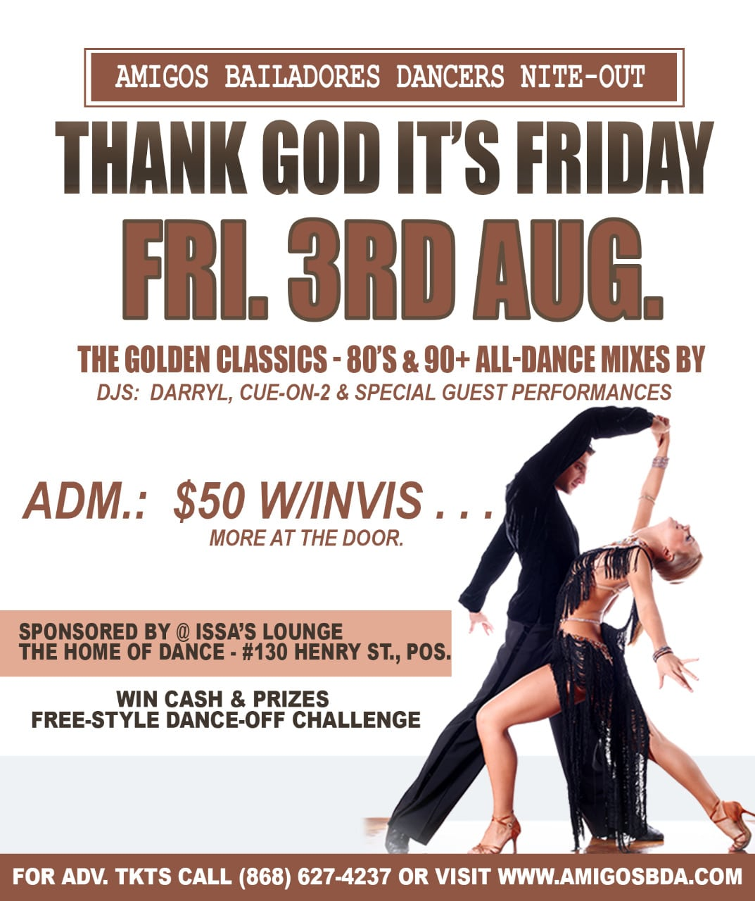 "Thank God It's Friday Classic All-Dance Party featuring the ""Spot-Cash"" Dance Challenge - August 3rd 2018"